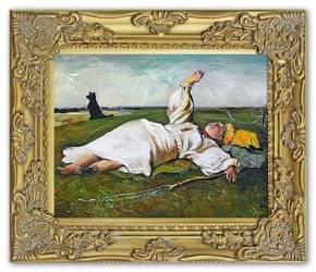 Obraz - Józef Chełmoński - olejny, ręcznie malowany 27x32cm