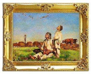 """Obraz """"Józef Chełmoński"""" - olejny, ręcznie malowany 75x95cm"""
