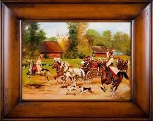 Obraz - Juliusz i Wojciech Kossakowie - olejny, ręcznie malowany 76x96cm