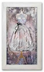 Obraz - Kolaż olejny - olejny, ręcznie malowany 46x75cm
