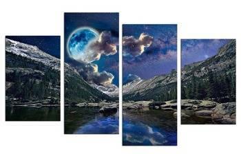 """Obraz """"Krajobrazy"""" reprodukcja 45x70cm x2, 45x100cm x2"""