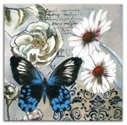 """Obraz """"Kwiaty nowoczesne"""" ręcznie malowany 30x30cm"""