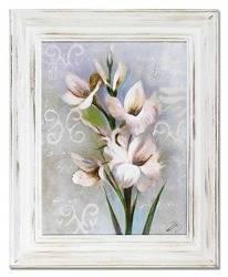 """Obraz """"Kwiaty nowoczesne"""" ręcznie malowany 37x47cm"""