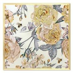 """Obraz """"Kwiaty nowoczesne"""" ręcznie malowany 63x63 cm"""