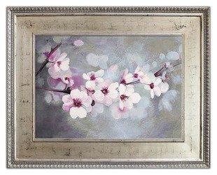 """Obraz """"Kwiaty nowoczesne"""" ręcznie malowany 80x100cm"""