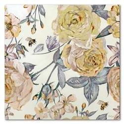 """Obraz """"Kwiaty nowoczesne"""" ręcznie malowany 90x90 cm"""