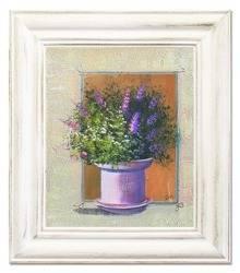 """Obraz """"Lawenda."""" ręcznie malowany 27x32cm"""