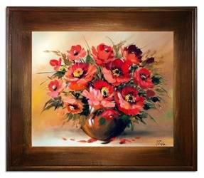 """Obraz """"Maki"""" ręcznie malowany 61x71cm"""