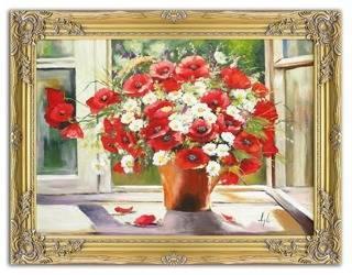 """Obraz """"Maki"""" ręcznie malowany 63x84cm"""