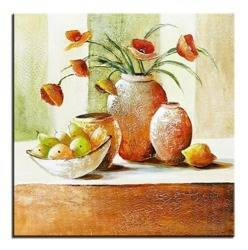 Obraz - Martwa natura nowoczesna - olejny, ręcznie malowany 60x60cm