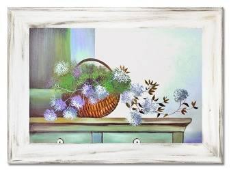 """Obraz """"Martwa natura nowoczesna"""" ręcznie malowany 82x112cm"""