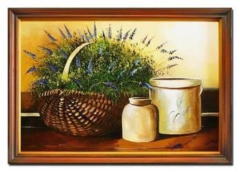 """Obraz """"Martwa natura tradycyjna"""" ręcznie malowany 75x105cm"""