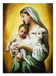 """Obraz """"Maryja"""" ręcznie malowany 50x70cm"""