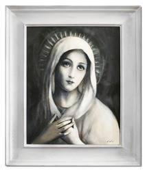"""Obraz """"Maryja"""" ręcznie malowany 56x66cm"""