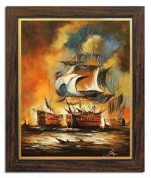 Obraz - Marynistyka - olejny, ręcznie malowany 53x64cm