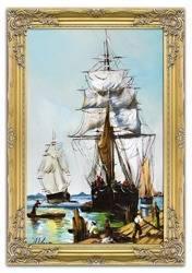 Obraz - Marynistyka - olejny, ręcznie malowany 75x105cm