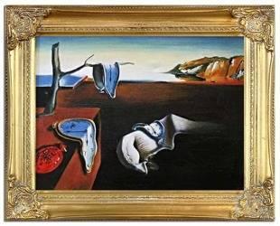 """Obraz """"Pablo Picasso, Salvador Dali i inni"""" ręcznie malowany 37x47cm"""