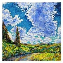 """Obraz """"Pablo Picasso, Salvador Dali i inni"""" ręcznie malowany 43x53cm"""