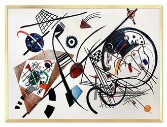"""Obraz """"Pablo Picasso, Salvador Dali i inni"""" ręcznie malowany 53x73cm"""