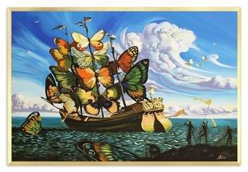 """Obraz """"Pablo Picasso, Salvador Dali i inni"""" ręcznie malowany 63x93cm"""
