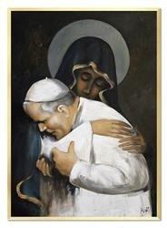 """Obraz """"Papież Jan Paweł II"""" ręcznie malowany 63x93cm"""