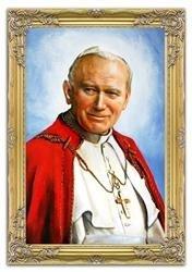 """Obraz """"Papież Jan Paweł II"""" ręcznie malowany 75x105cm"""
