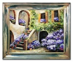 Obraz - Pejzaz tradycyjny - olejny, ręcznie malowany 53x63cm