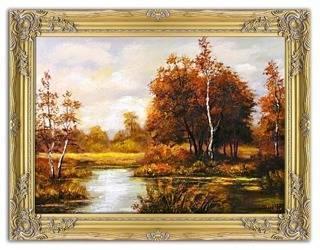 Obraz - Pejzaz tradycyjny - olejny, ręcznie malowany 64x83cm