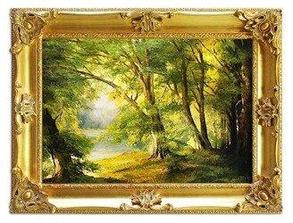 """Obraz """"Pejzaz tradycyjny"""" ręcznie malowany 85x115cm"""
