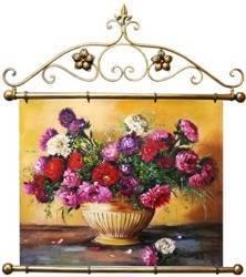"""Obraz """"Piwonie"""" ręcznie malowany 72x75cm"""