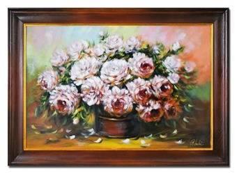 """Obraz """"Piwonie"""" ręcznie malowany 75x105cm"""