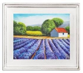 """Obraz """"Pola lawendowe"""" ręcznie malowany 30x35cm"""