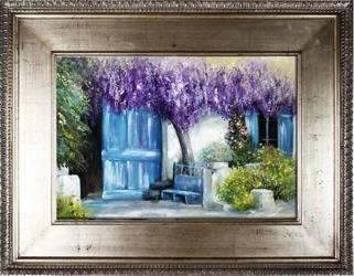 """Obraz """"Pola lawendowe"""" ręcznie malowany 92x122cm"""