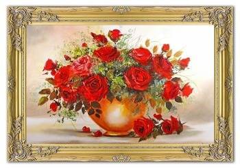 Obraz - Roze - olejny, ręcznie malowany 77x107cm