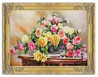 """Obraz """"Roze"""" ręcznie malowany 63x84cm"""
