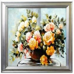 """Obraz """"Roze"""" ręcznie malowany 72x72cm"""