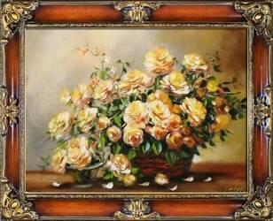"""Obraz """"Roze"""" ręcznie malowany 75x95cm"""