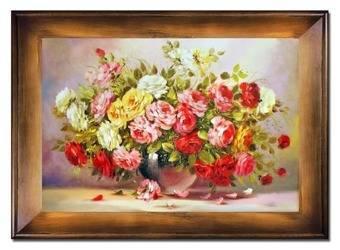 """Obraz """"Roze"""" ręcznie malowany 82x112cm"""