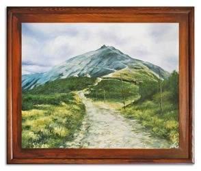 Obraz - Sniezka - olejny, ręcznie malowany 53x64cm