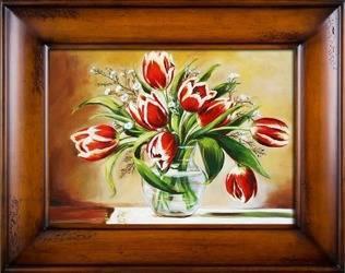 """Obraz """"Tulipany"""" ręcznie malowany 76x96cm"""