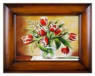 """Obraz """"Tulipany"""" ręcznie malowany 87x117cm"""