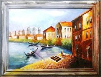 Obraz - Wenecja - olejny, ręcznie malowany 63x83cm