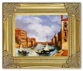 """Obraz """"Wenecja"""" ręcznie malowany 27x32cm"""