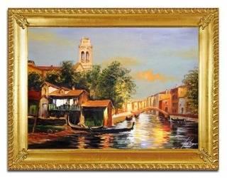 """Obraz """"Wenecja"""" ręcznie malowany 63x84cm"""