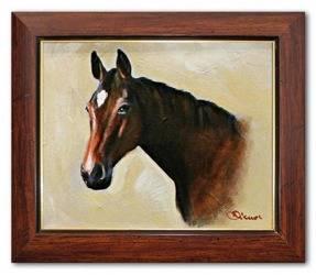 """Obraz """"Zwierzęta"""" ręcznie malowany 26x31cm"""