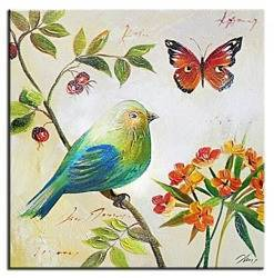 """Obraz """"Zwierzęta"""" ręcznie malowany 30x30cm"""