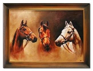 """Obraz """"Zwierzęta"""" ręcznie malowany 64x84cm"""