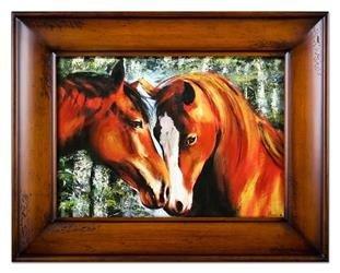 """Obraz """"Zwierzęta"""" ręcznie malowany 86x116cm"""