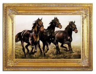 """Obraz """"Zwierzęta"""" ręcznie malowany 87x117cm"""