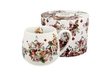 Pl Kubek Baryłka 430 Ml Vintage Flowers - White